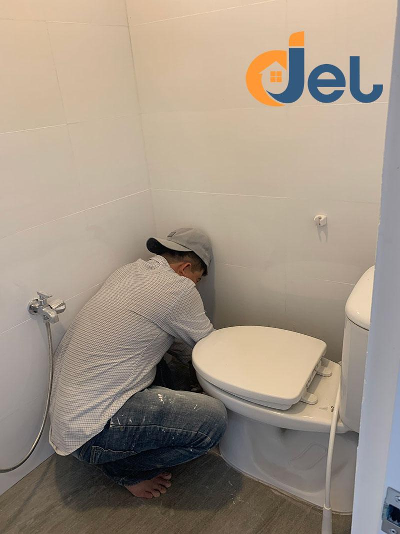 Nhà vệ sinh sau khi hoàn thành
