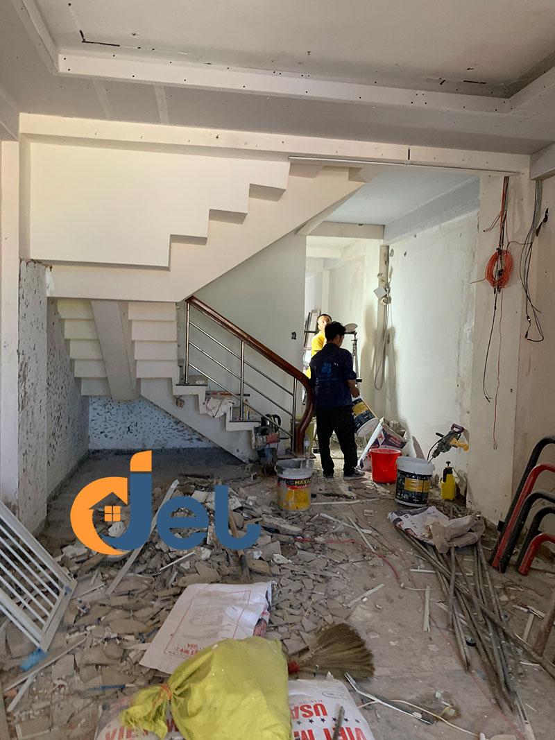 thi công sửa chữa tầng trệt