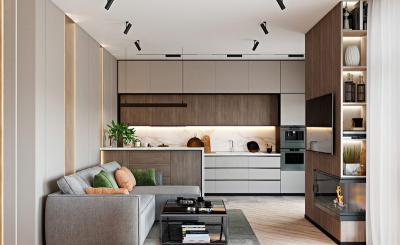 Một thiết kế tinh tế cân đối tiện lợi cho căn hộ 2 phòng ngủ