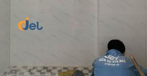 Thi công chống thấm nhà vệ sinh lầu 1 và sửa khu vực bếp nhà chú Sơn ở Gò Vấp