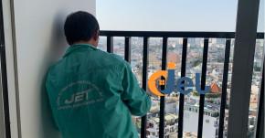 Thi công sơn căn hộ chung cư của chị Chi ở Tân Bình